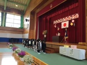 鳥取市立東中学校入学式
