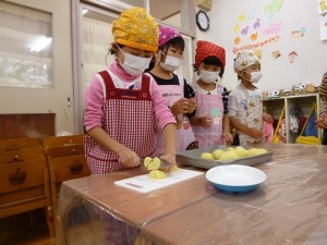 野菜切り(5歳児)