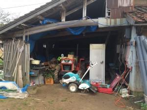 片付ける前の作業場兼倉庫