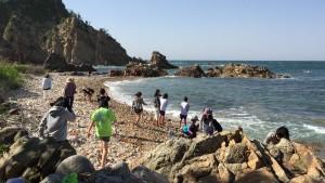 子ども達 城原海岸にて遊ぶ